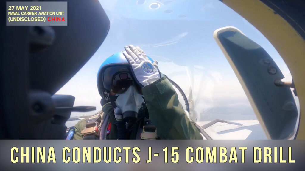 chinese flying shark J-15 fighter aircraft drill