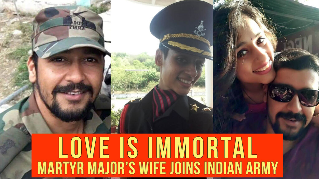 Martyr Maj Vibhuti Dhoundiyal's Wife Lt Nitika Kaul Joins Indian Army