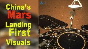 china mars landing first visuals