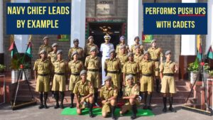 Navy Chief Admiral Karambir Singh Performs Push Ups with Young Cadets- Leads By Example